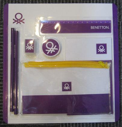 9ce32d67cdf LARGE STATIONERY SET 2 BENETTON CLASSIC 35084